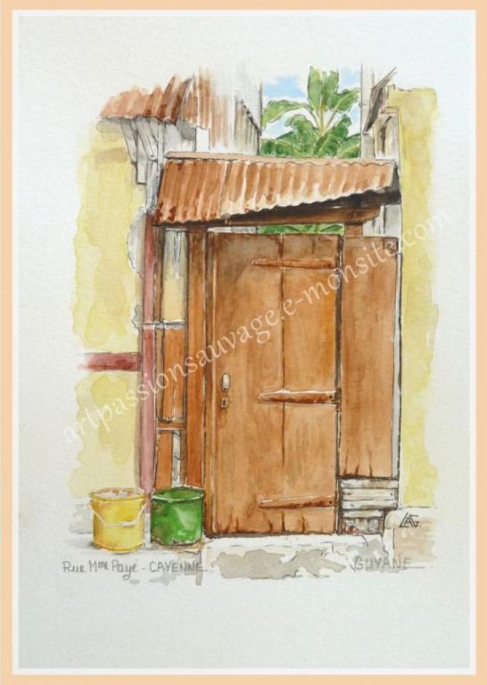 Dans une rue de Cayenne