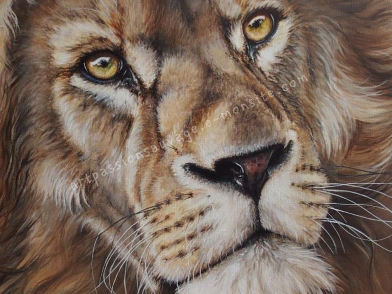Lion acrylique