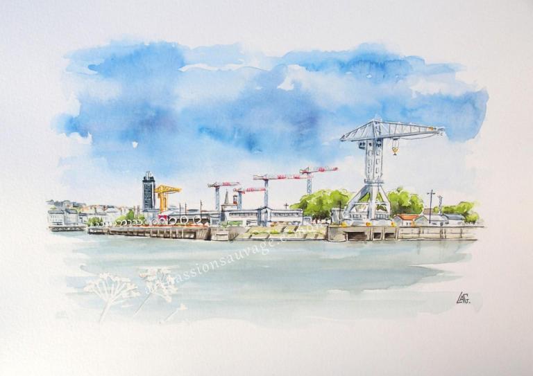 Île de Nantes (depuis Trentemoult)