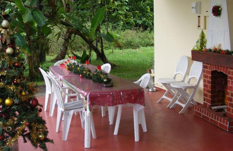 Notre terrasse en Guyane pour Noël !