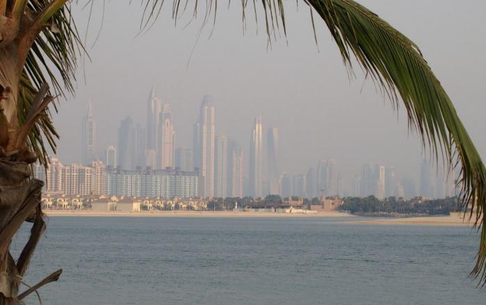 Dubai depuis The Plam
