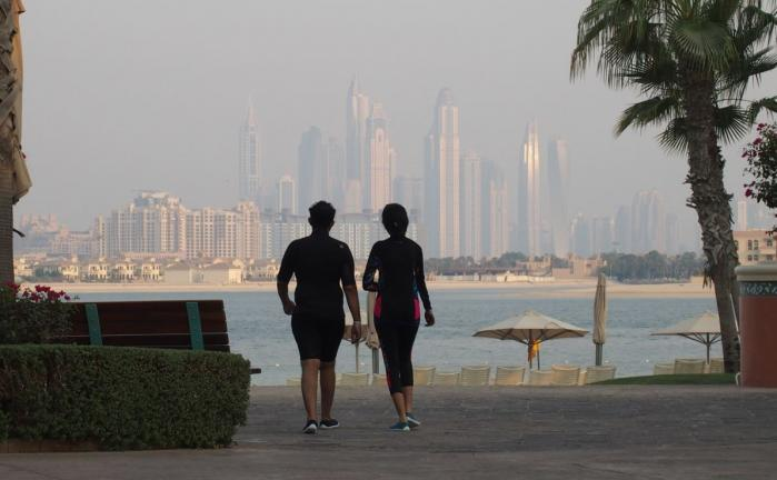 Dubaï depuis le Waterpark Atlantis
