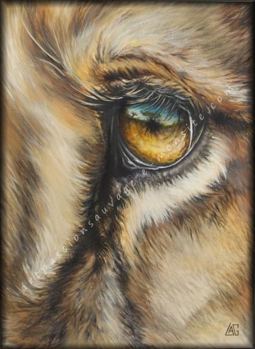 Lion - peinture à l'huile