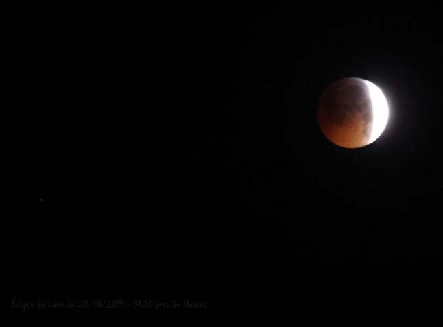 Eclipse de lune 21 01 2019