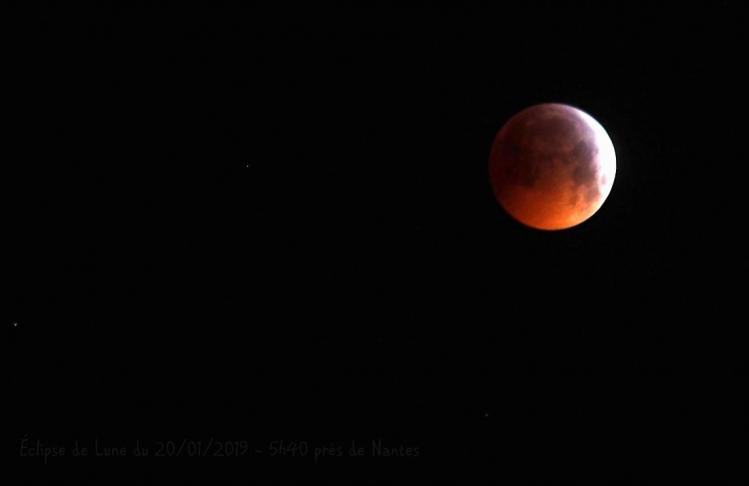 Eclipse de lune 21 01 2019