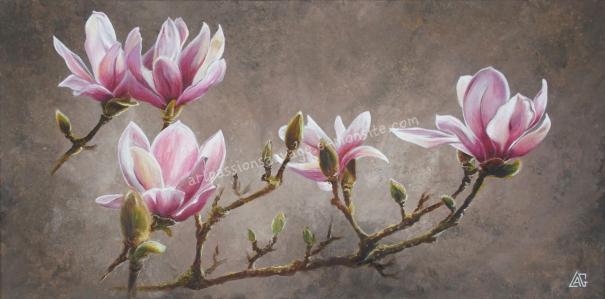 Magnolia Acrylique