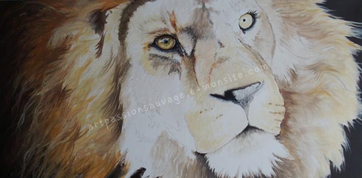 Lion - Acrylique (en cours)