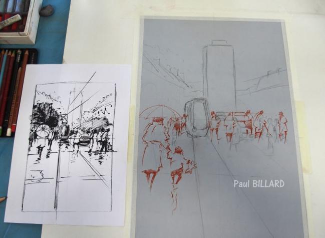 Pastel Paul BILLARD