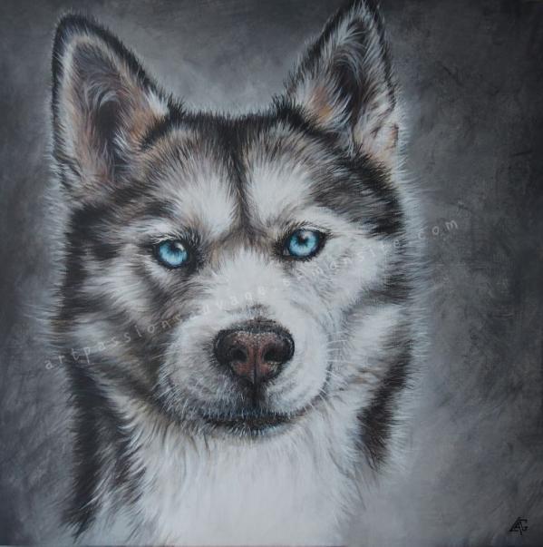 Husky peinture acrylique