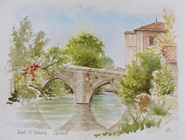 Clisson aquarelle