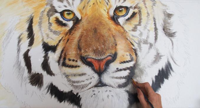 Tigre acrylique