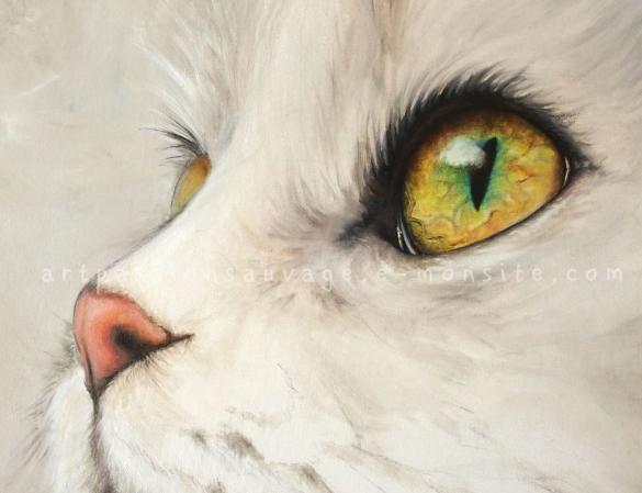 Chat peinture à l'huile