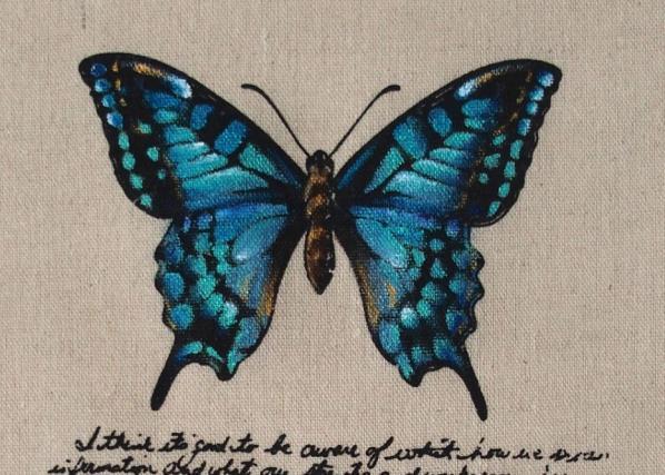 Papillon acrylique