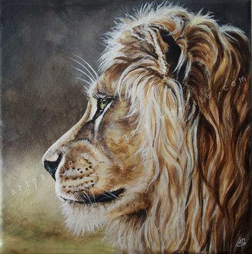 Profil lion 30x30