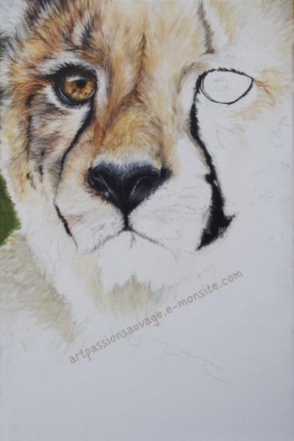 Cheetah acrylic