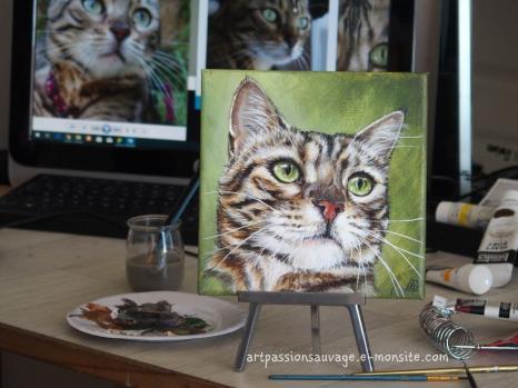 Peinture chat acrylique